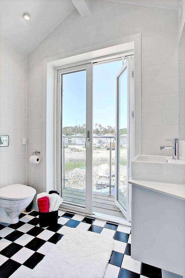Sjöhus - interiör - badrum