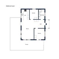 Planritning - Mellersta huset