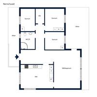 Planritning - Norra huset