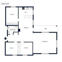 Planritning - Södra huset