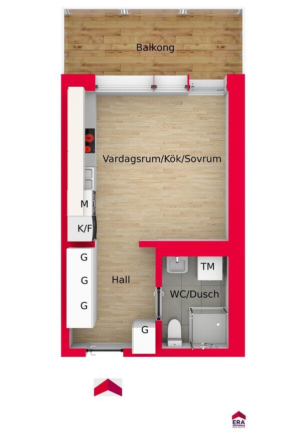 Lägenhet, Finslipargränd 15, Huddinge
