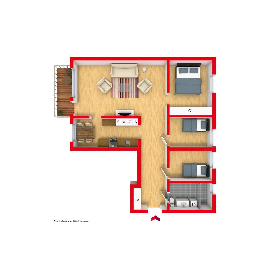 Lägenhet, Gränsvägen 11 2tr, Västerhaninge