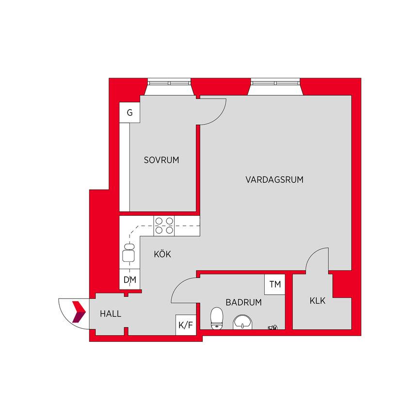 Lägenhet, Samaritgränd 6,, Stockholm