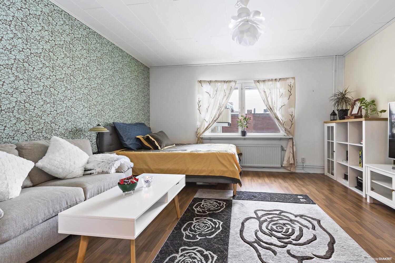 Vardagsrum och sovrumsdel