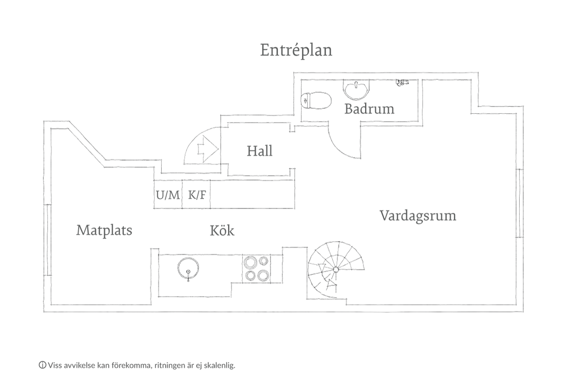 Om så skulle önskas kan man ansöka om bygglov för balkong från köket eller terrass på övre plan.