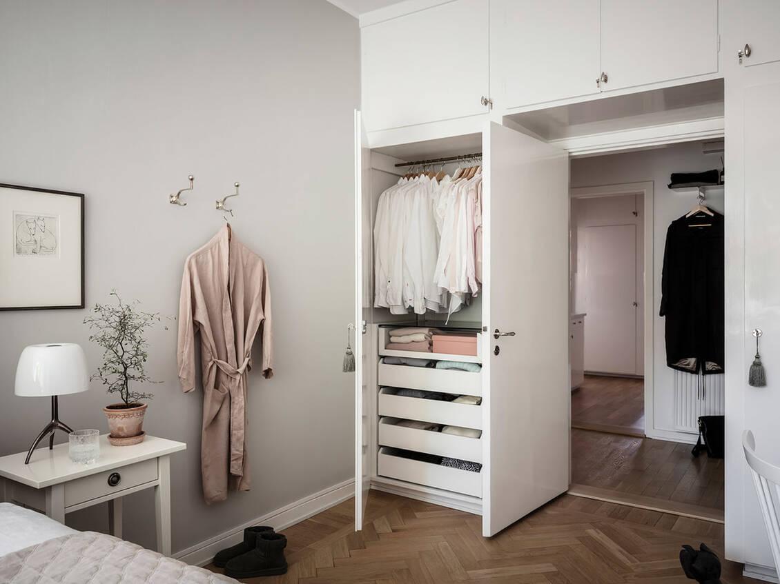 Sovrum med originalförvaring