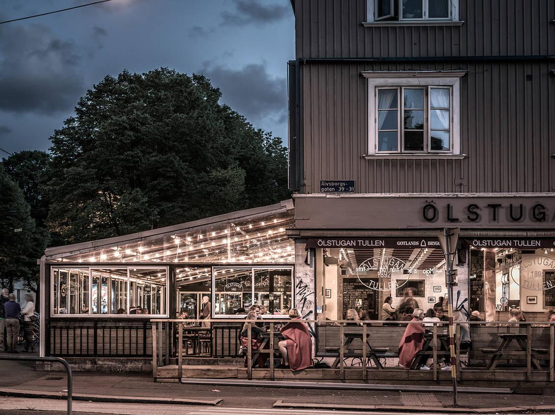 Trevliga restauranger, caféer och butiker.