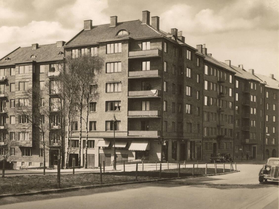 Korsningen Vidblicksgatan och Viktor Rydbergsgatan