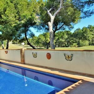 1a linje Golf Villa med privat pool & takterrass