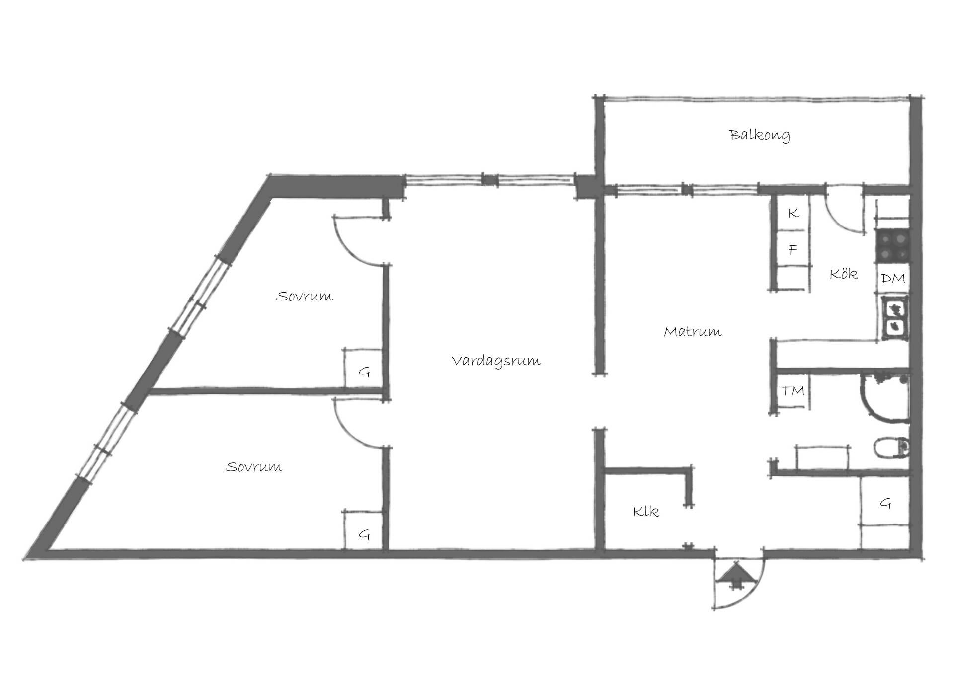 planlösning Karlaplan 21 C