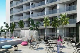 1 sovrums lägenheter 400 meter från stranden
