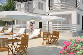 Köp 1 sovrums minivilla, egen trädgård och stor takterrass.