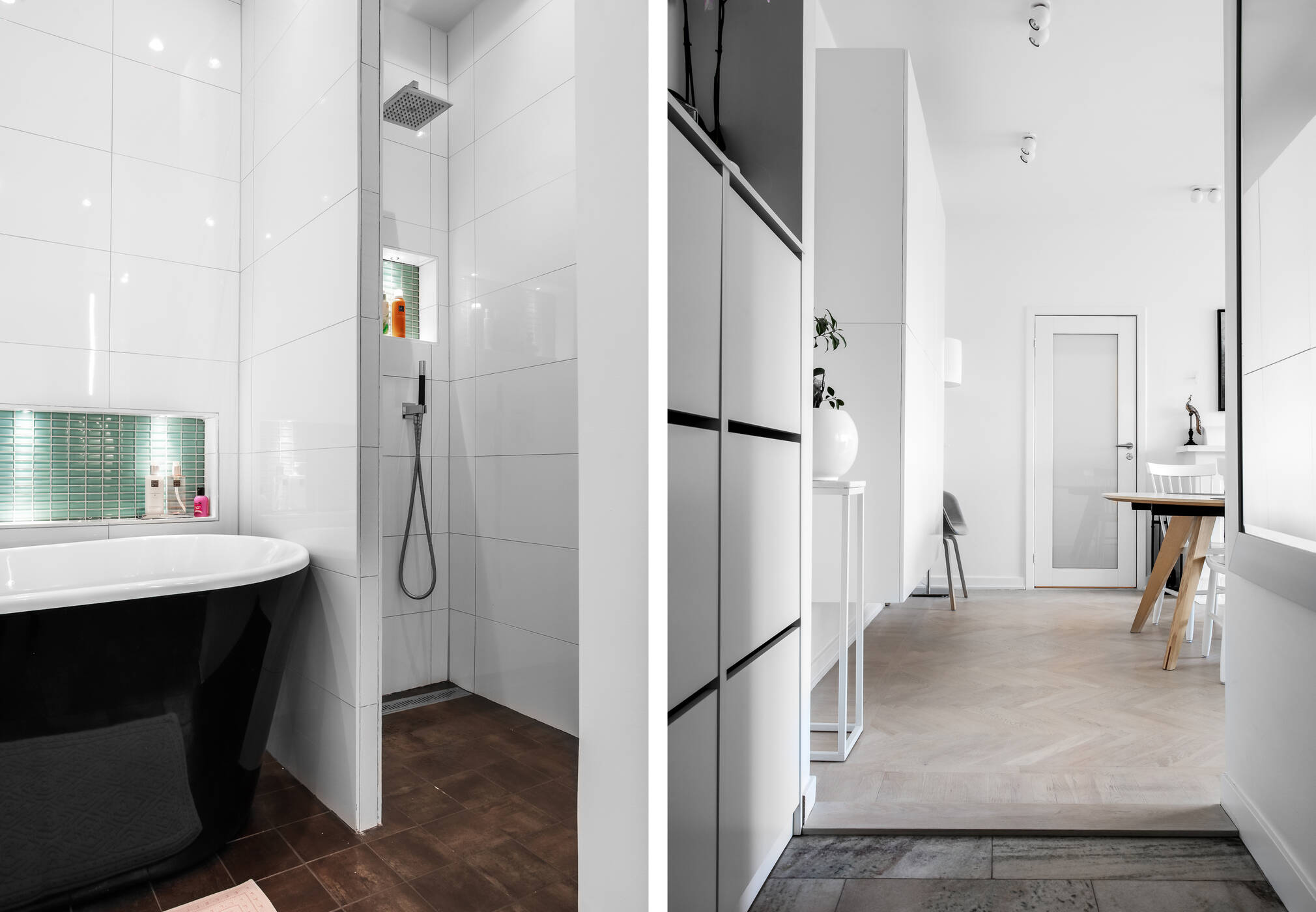 Detalj badrum och hall