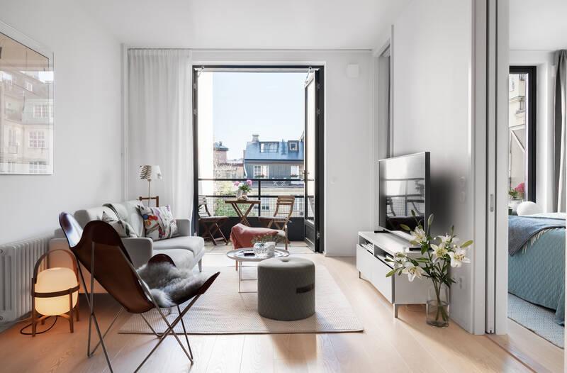 Nestor Fastighetsmäkleri – Industrigatan 2A – Exklusiv tvåa med stor terrass