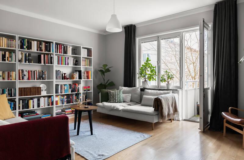 Nestor Fastighetsmäkleri – Strahlenbergsgatan 24 – Solig balkong i sydvästläge i funktionalistisk dr