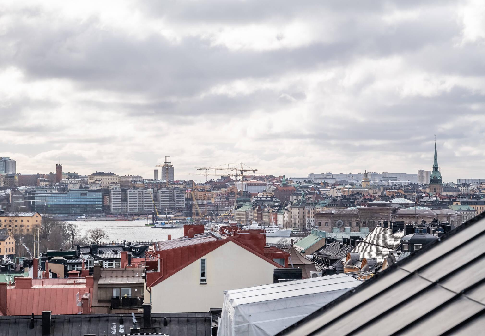 Utsikt från föreningens takterrass