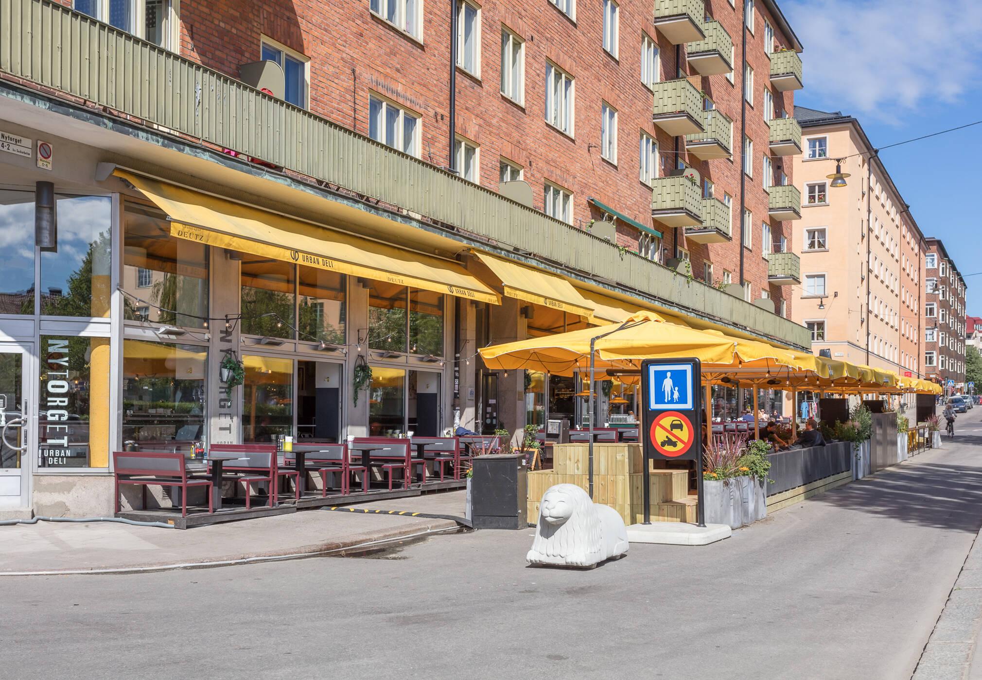 Populära Urban Deli vid Nytorget