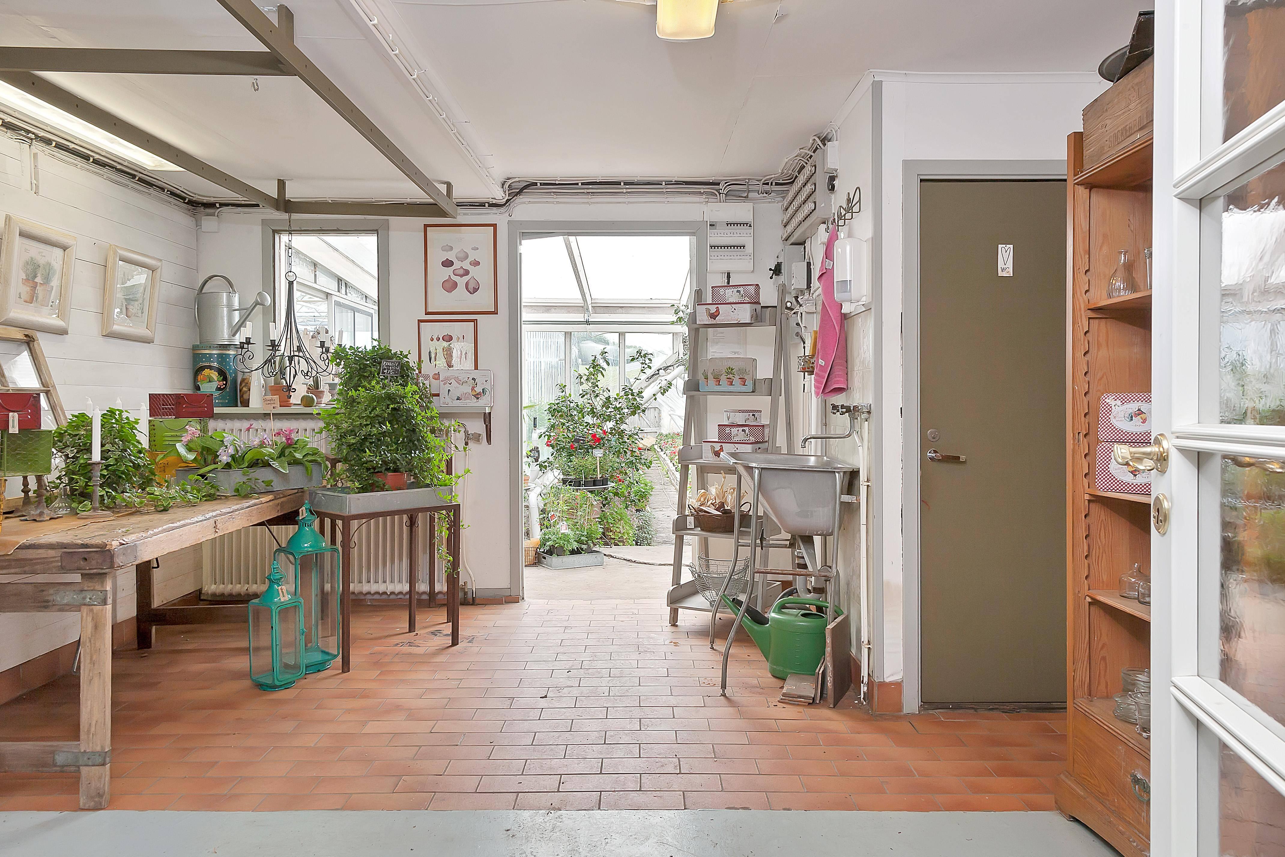 Butik och växthus