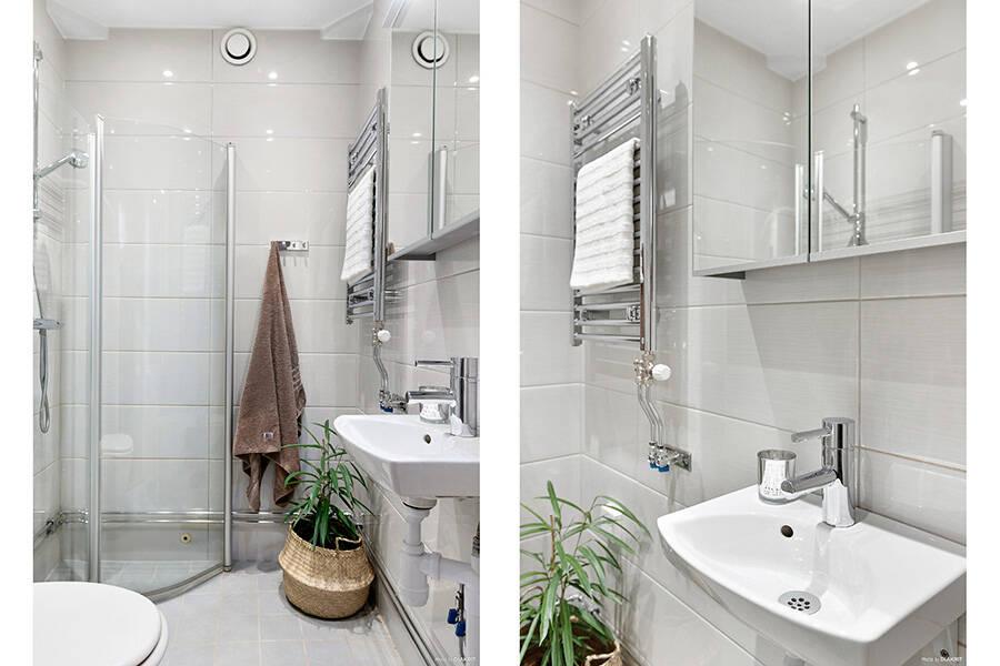 Nyrenoverat badrum med golvvärme