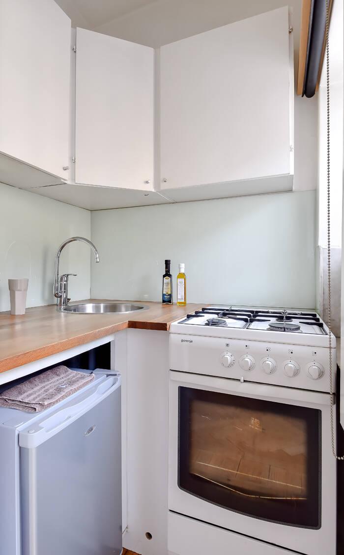 Optimerat kök med ljusinsläpp