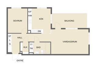 Optimalt planerad 2:a med balkong mot söder. Möjlig 3:a. Ingen insyn, fritt läge