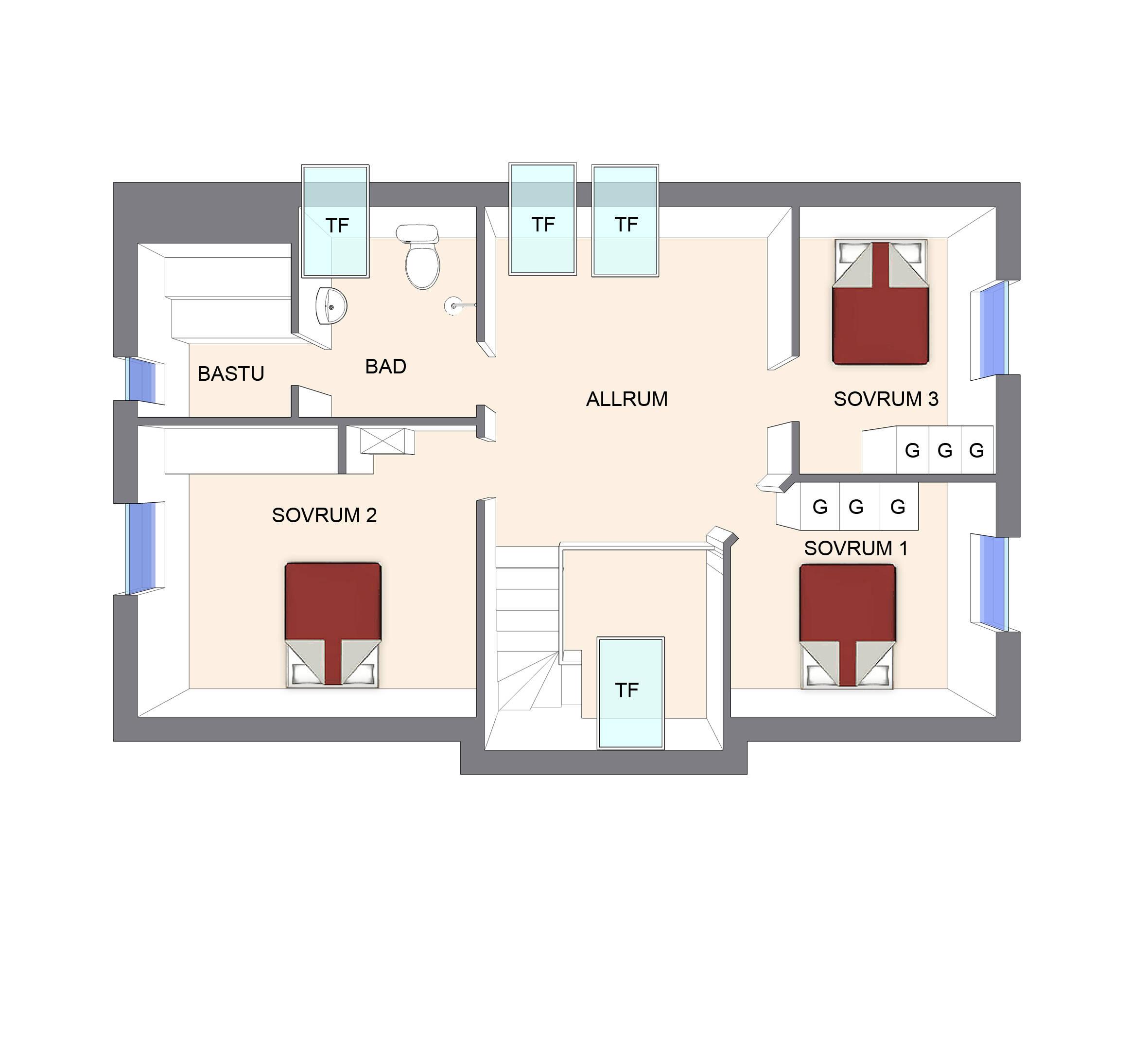 3D planritning vån 2