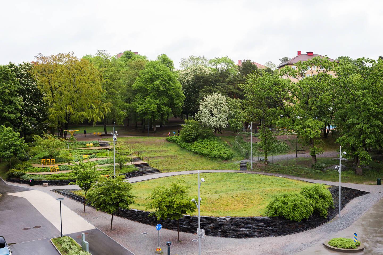 Utsikt mot park