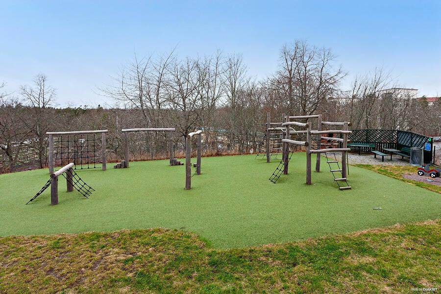 Utsikt mot lekpark