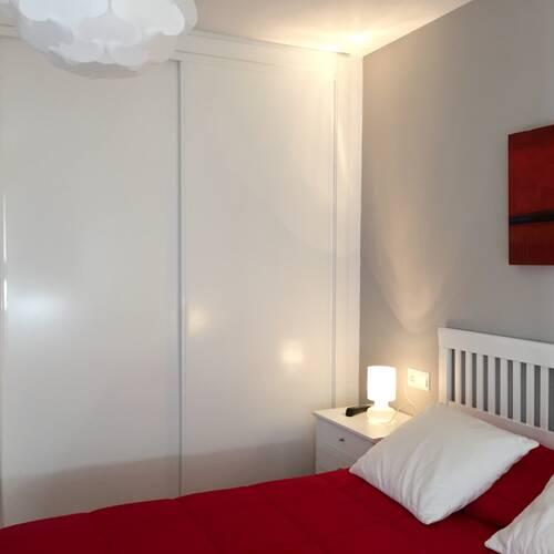Alla sovrummen med inbyggda garderober