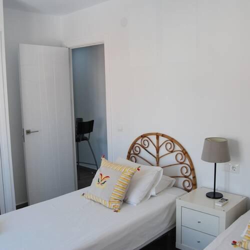 Det mindre sovrummet med plats för 2 enkeltsänger