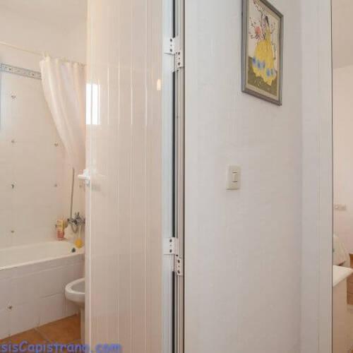 Badrummet nära sovrummet