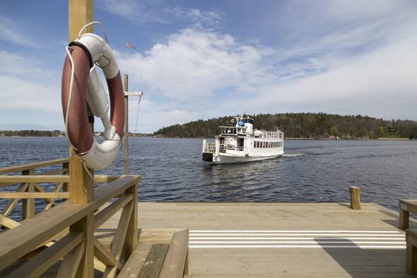 Båten går året om till stan och SL-kortet gäller