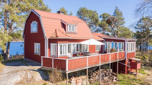 Huset med altan mot söder