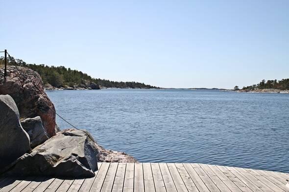 Utsikt från bryggan söderut