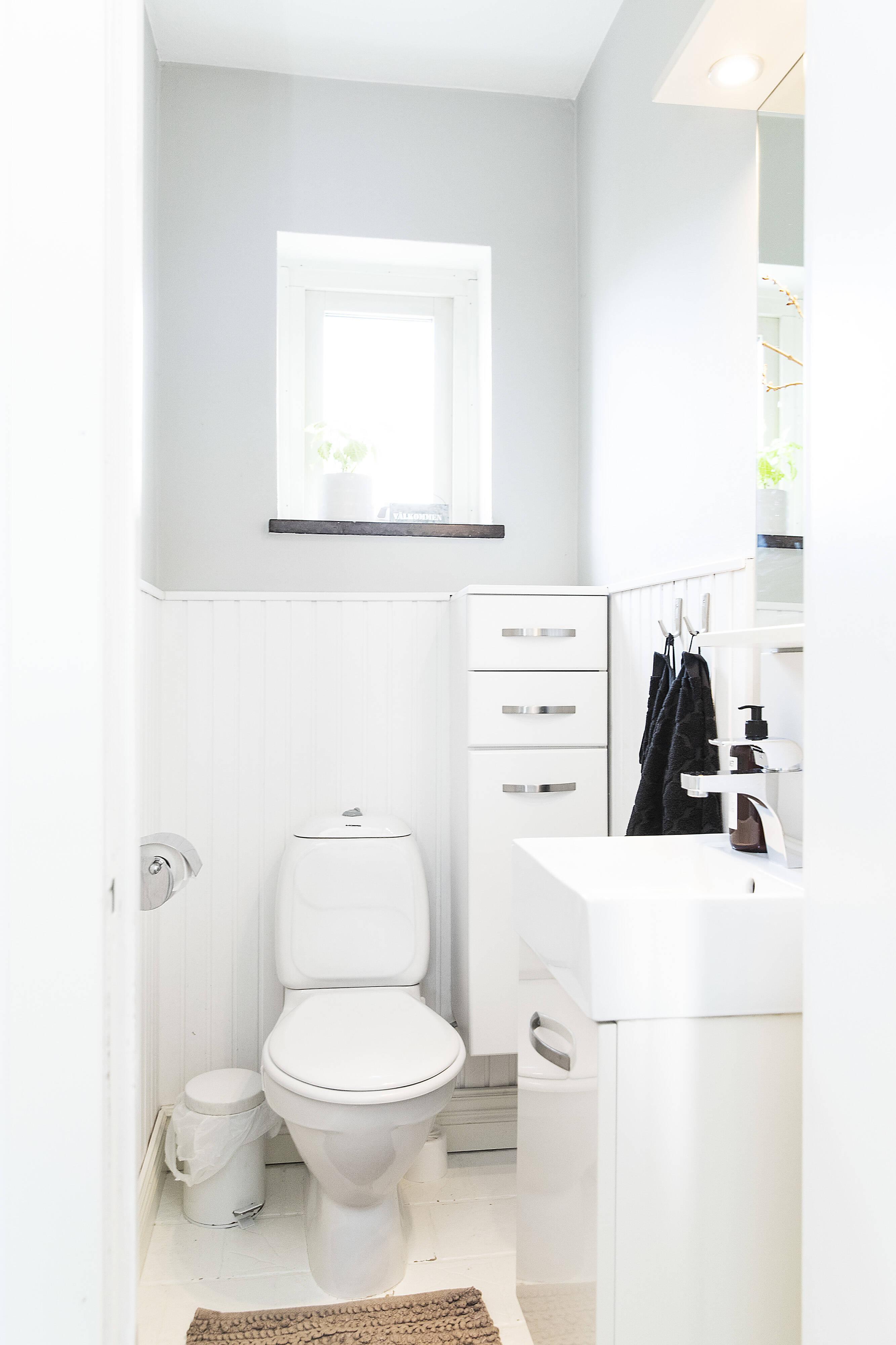 fräsch toalett på entreplan