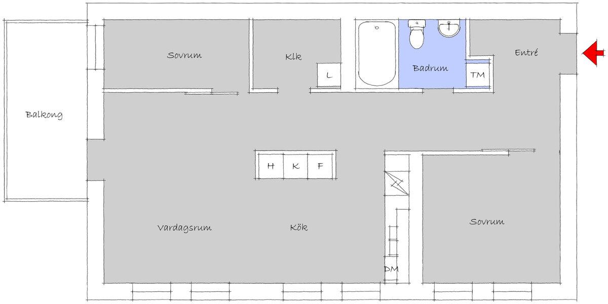 Lägenhet, Bratteråsgatan 72, Göteborg