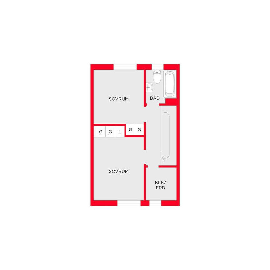 Lägenhet, Bergakungsvägen 54, Huddinge