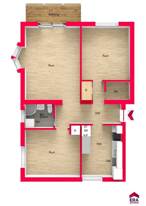 Lägenhet, Ostdalsgatan 42A, MOTALA