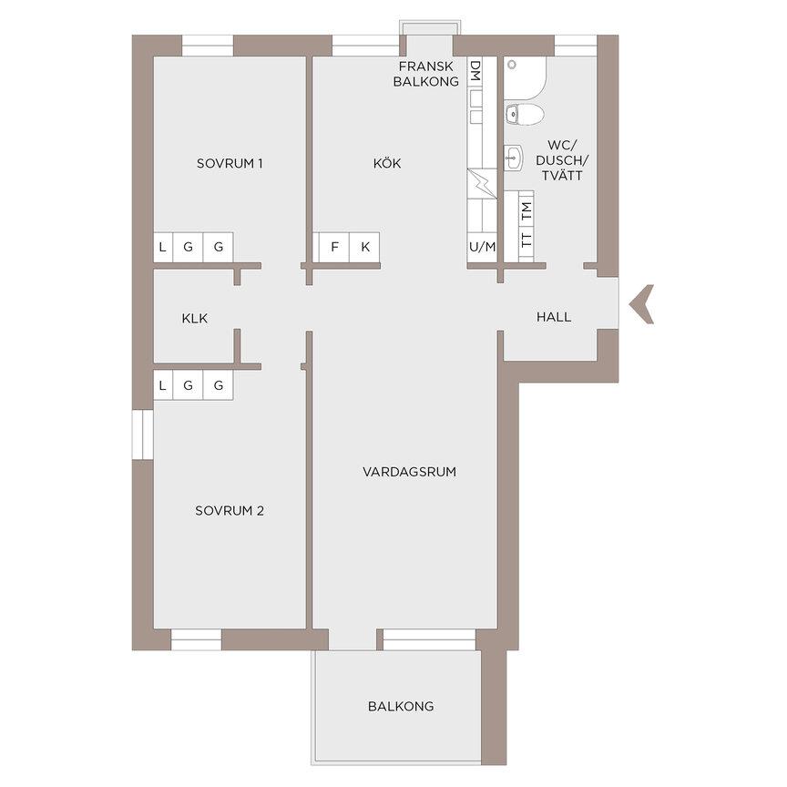 Lägenhet, Färgfabriksgatan 8, Göteborg
