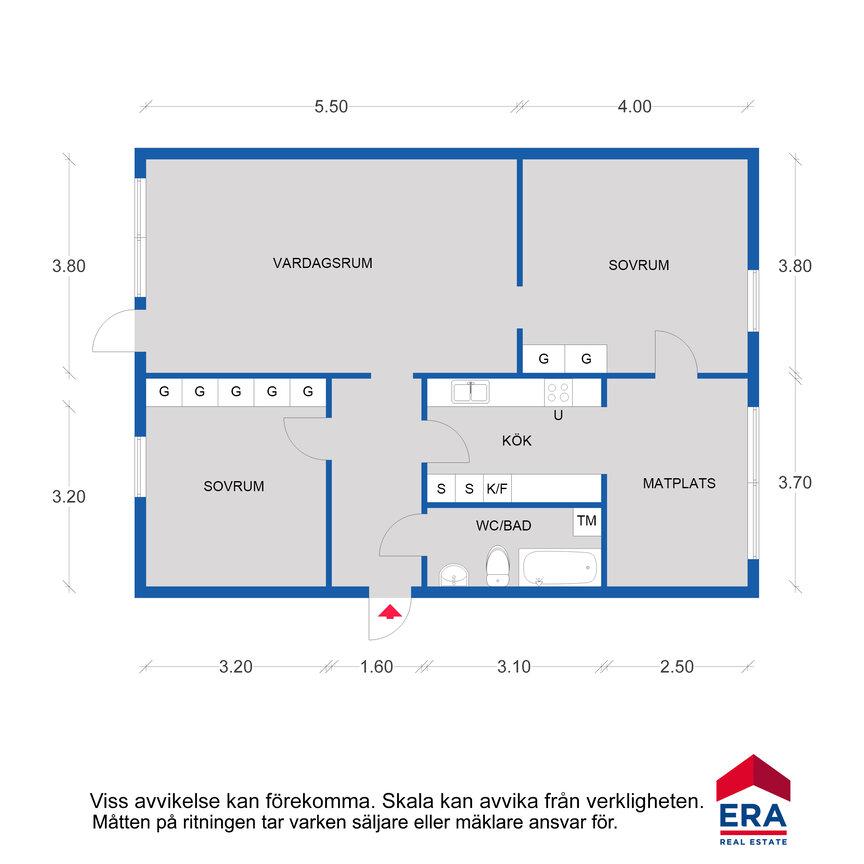 Lägenhet, . Flanaden 90, Vänersborg