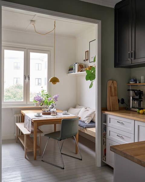 Smakfullt renoverat kök, stort ljusinsläpp och trevligt läge i hjärtat av Kungsladugård